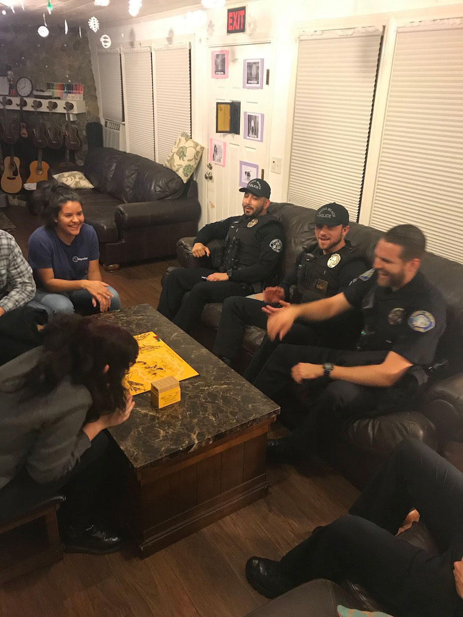 Officers from on couch
