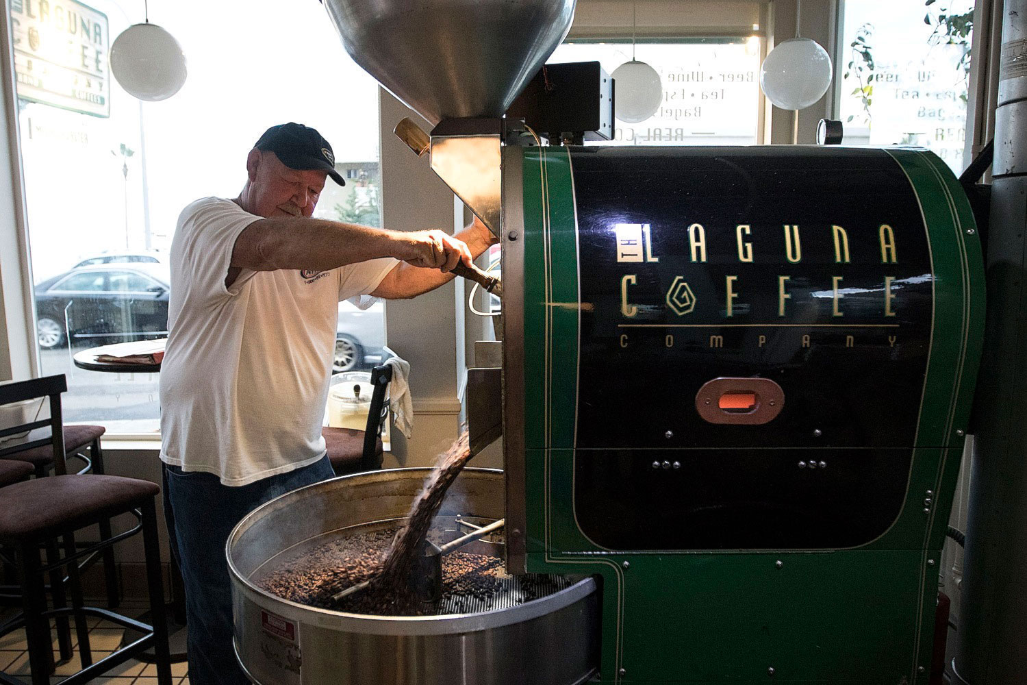 Laguna Coffee roasting