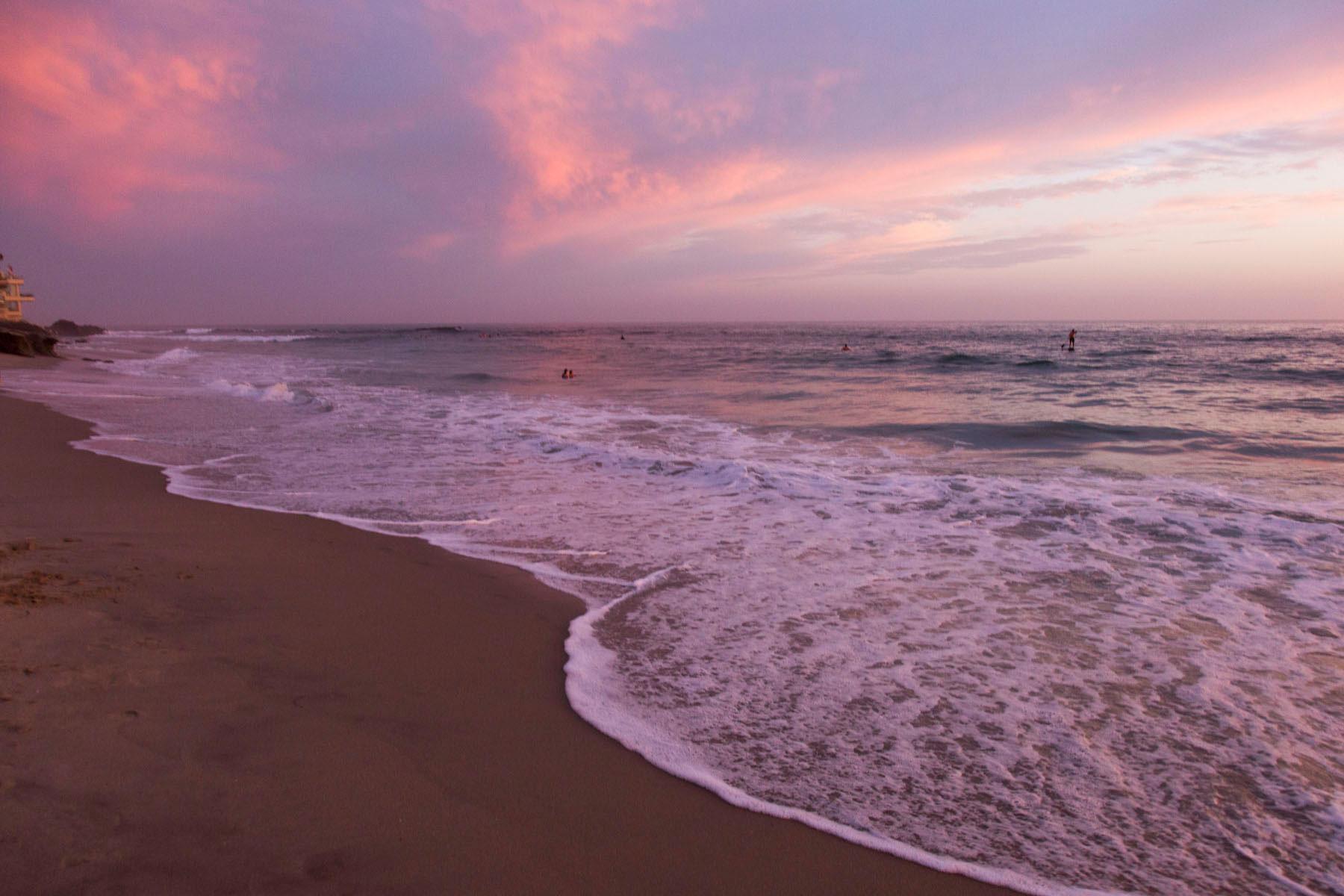 23 x 23 Square Floor Pillow Kess InHouse Violet Hudson Crashing Waves Beach Coastal