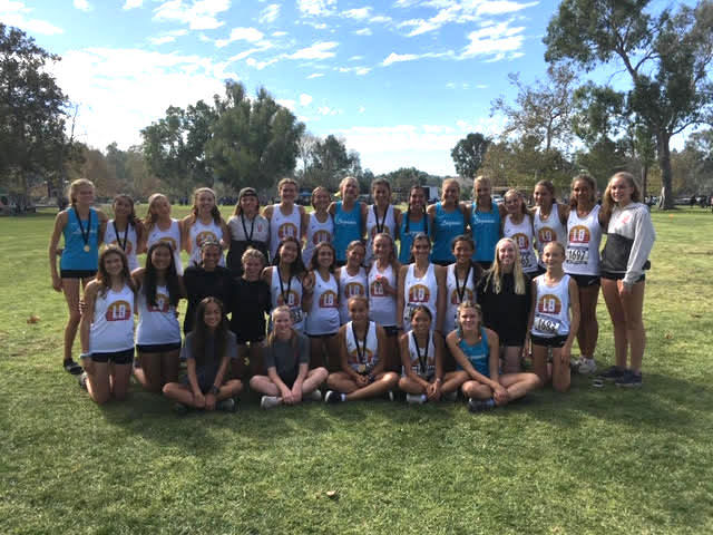 LBHS girls cross country team