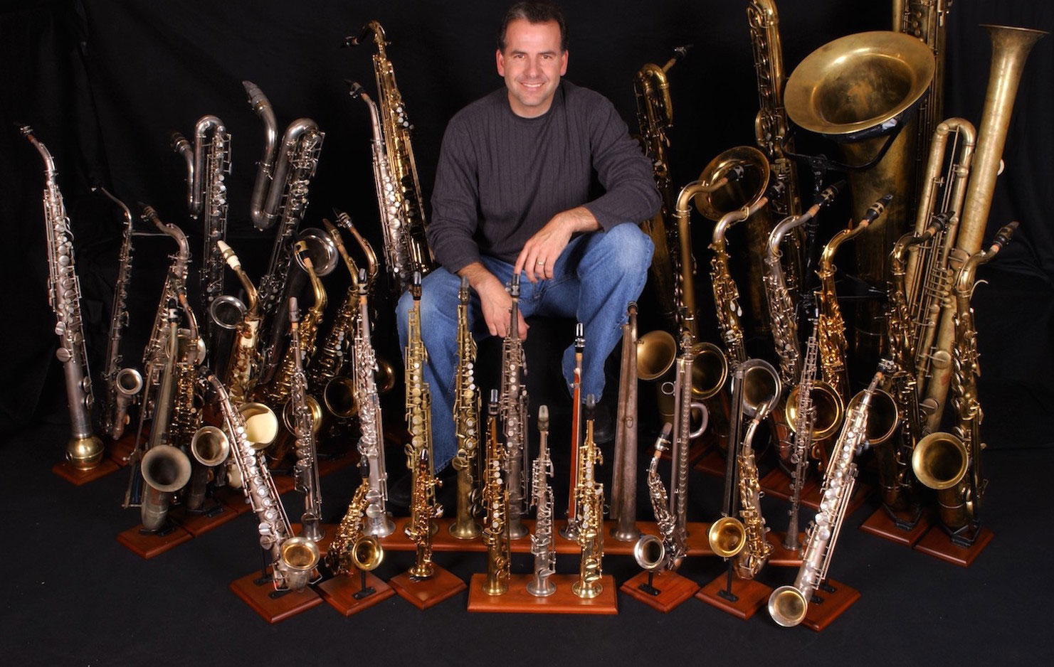 Rob Verdi with sax